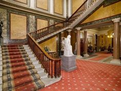 (Brodsworth Hall hall & stairs) Brodworth Hall is possibly the most well preserved home from the 1800s
