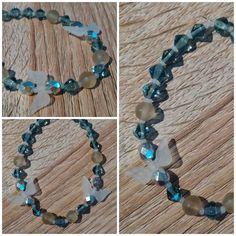 #bracelet #wing #grey #silver #beads #handmade