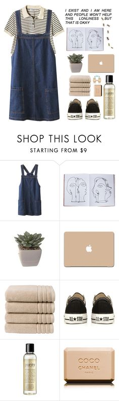 """""""Lonliness is natural 🐇"""" by i-smell-grunge ❤ liked on Polyvore featuring Assouline Publishing, 3M, Christy, Converse, philosophy and Chanel"""