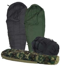 Used USA Military Modular Sleeping Bags - Extreme Cold Weather Sleep System