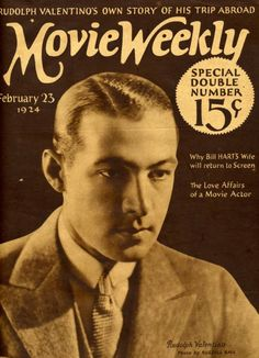 pictures of rudolph valentino | Rudolph Valentino Collectibles: Movie Weekly Magazine featuring ...