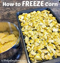 How to FREEZE Corn on the Cob for recipes