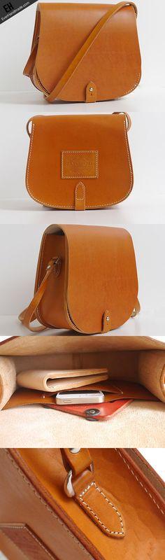 Handmade vintage cute rustic leather crossbody Shoulder Bag for girl w EverHandmade