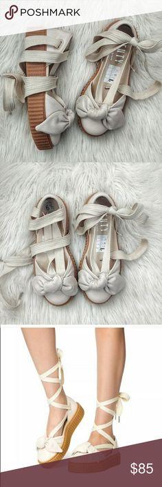 5bcc2b849338 Spotted while shopping on Poshmark  ✨ Puma Fenty Rihanna Shoes Bow Lace Up  Size 6.5
