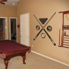 Motivation Billiard Removable Wall Decal Sports Room Home Vinyl Art Decor