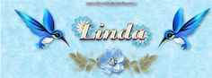 Jewels Art Creation: Search results for linda Name Banners, Timeline Covers, Original Artwork, Hummingbirds, Jewels, Blue, Initials, Names, Search