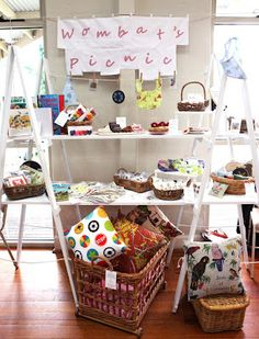 Wombat's Picnic: My Creative Space - A New Market Stall. I like the idea Might be a bit impractical in most venues