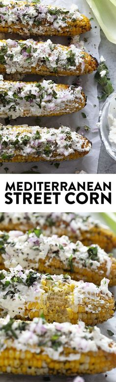 Give the classic corn on the cob a major makeover with this Grilled Mediterranean Street Corn with Feta Cheese recipe.