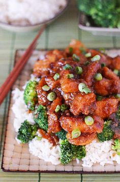 Crock Pot General Tso's Chicken. Tastes even better than the take-out version and cuts a lot of the calories, to boot!