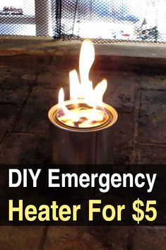 DIY Emergency Heater for $5