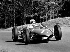 Nürburgring 1962. Phil Hill. Ferrari 156 Sharknose