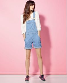 Salopette short TOJOBA - Couleur LIGHT BLUE Salopette Short Jean, Dungarees Shorts, Brogues, Classic Looks, Overall Shorts, Summer Fun, Jeans, Light Blue, Pairs