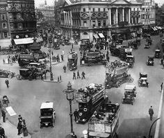 An poster sized print, approx (other products available) - July Busy traffic at Piccadilly Circus in London. (Photo by Hulton Archive/Getty Images) - Image supplied by Fine Art Storehouse - poster sized print mm) made in Australia Old Pictures, Old Photos, Vintage Photos, London History, Piccadilly Circus, Old London, West London, London City, Greater London