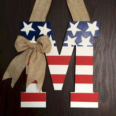 80 DIY America Independence Day Decor Ideas And Design 27 80 DIY Amerika Independence Day Dekor Ideen und Design 27 Patriotic Crafts, July Crafts, Summer Crafts, Holiday Crafts, Holiday Fun, Diy And Crafts, Americana Crafts, Americana Kitchen, Patriotic Desserts