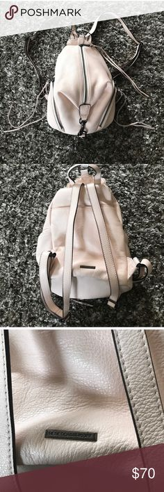 Rebecca minkoff mini Julian backpack blush pink Great condition used a handful of times bought from another posture and I only used it a few times super cute super pretty and blush pink with very soft signature Rebecca Minkoff leather Rebecca Minkoff Bags Backpacks