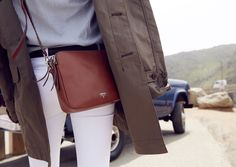 Our Sydney Crossbody, as seen on the set of our fall campaign shoot.