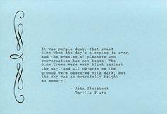 John Steinbeck Quote Made on Typewriter Art by FlightOfFancyPrints