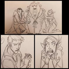 """Critical Role doodles from last night! #sketches #doodles #CriticalRole #dnd"""