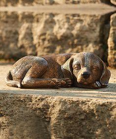 Another great find on #zulily! Dog Garden Figurine #zulilyfinds