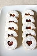 Remind me of my favs at Mom's Apple Pie Shop - Pecan Linzer Cookies with Raspberry Filling