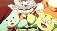 Musaigen no Phantom World Episode 6 #Gif #Bears #MusaigenNoPhantomWorld #Winter2016 Scared
