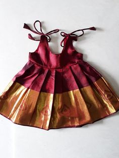Indian traditional silk frock for new born baby girl - infant dress - pattu pavadai - baby girl home coming dress - cradle ceremony . Frocks For Babies, Baby Girl Frocks, Baby Girl Party Dresses, Frocks For Girls, Dresses Kids Girl, Newborn Baby Girl Dresses, Infant Dresses, Baby Girl Dress Design, Girls Frock Design