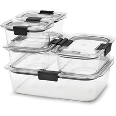 Rubbermaid Brilliance Food Storage Container Set 22 Piece Clear Delectable Rubbermaid Commercial Round Plastic Food Storage Container Green 4 Decorating Design