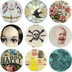 Diy tutorial - decoupage plates These could be really cool.