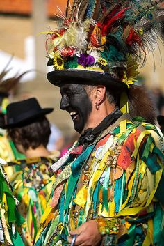 Bourne Borderers{Morris dancers} Raven And Wolf, Ritual Dance, Morris Dancing, Village Fete, Morris Costumes, Folk Festival, England And Scotland, Pow Wow, British Isles