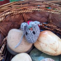 crochet amigurumi Christmas tree stuffed animal tiny mouse ornament decoration gift topper cat toy by WiseFriday on Etsy