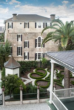 A bird's eye view of the historic Pineapple Gates House in Charleston, South Carolina. Photo Credit: Gately Williams