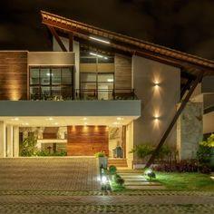 Casa Montenegro - 360 Arquitetura - João Pessoa-PB   360 Arquitetura – João Pessoa-PB Facade House, Mansions, House Styles, Sweet Home, Farmhouse, Exterior, House Design, Contemporary, Montenegro
