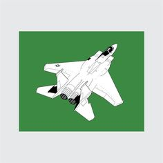 Jet Art Print, 8x10 PRINTABLE, F-15 Eagle, Instant Download, Digital
