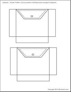 Lapbook: Template Jeans Pocket (b/w) - large image Paper Gift Box, Diy Gift Box, Lapbook Templates, Templates Free, Paper Folding Crafts, Elementary School Counselor, Mini Books, Lap Books, English Book