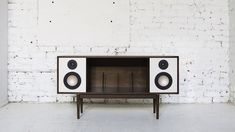 Department Chicago is raising funds for The Modern HiFi Stereo Console on Kickstarter! The HiFi Console is a Bluetooth enabled mid-century inspired stereo console built for this generation's music listener. Arctic Monkeys, Docking Station, Interior Design Inspiration, Modern Interior Design, Furniture Inspiration, Lps, Modern Room, Mid-century Modern, Consoles