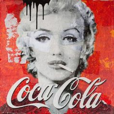 "Saatchi Art Artist Anyes Galleani; Painting, ""Marilyn Smokes Coca Cola"" #art"