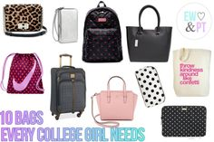 10 Bags Every College Girl Needs