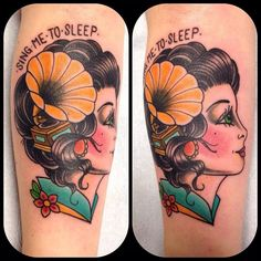 Traditional lady head with gramophone by Sherlane at Mata Mata; Hamilton, Ontario.