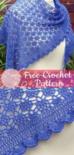 Ideas crochet lace shawl easy for 2019 Crochet Headband Pattern, Crochet Amigurumi Free Patterns, Crochet Mittens, Crochet Scarves, Diy Crochet, Crochet Clothes, Crochet Stitches, Irish Crochet, Tunisian Crochet