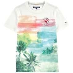 c54429eeb8a Denver Palm Tree T-shirt White Tommy Hilfiger