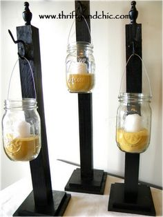 DIY - mason jar lights for the porch or patio.