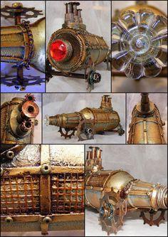 Own work - Steampunk inspired Altered Bottle