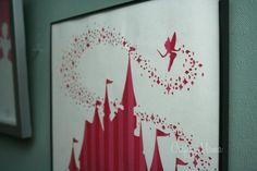 Disney Diy, Disney Crafts, Disney Princess Bedding, Princess Wall Art, Princess Room, Princess Nursery, Princess Party, Castle Silhouette, Free Silhouette