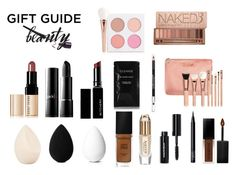 """""""Make-Up Gift Guide"""" by twenty-one-pilots-at-the-disco ❤ liked on Polyvore featuring beauty, Burberry, ZOEVA, Bobbi Brown Cosmetics, Urban Decay, Witchery, beautyblender, Christian Dior, Smashbox and The Body Shop"""