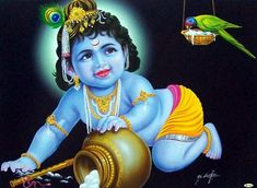 Lord Bal Krishna Dark Image With Bird HD Wallpapers For Desktop And Mobile Base Wallpapers Bal Krishna, Radha Krishna Pictures, Lord Krishna Images, Radha Krishna Photo, Krishna Photos, Shree Krishna, Radhe Krishna, Little Krishna, Cute Krishna