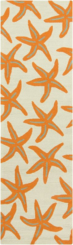Surya RAI1136 Rain Orange Runner Area Rug
