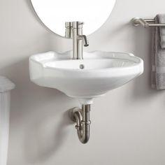 Victorian Medium Wall-Mount Sink - Signature Hardware $173.95