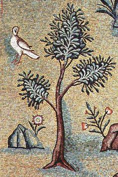 Ravenna Mosaic, love the detail created using mosaic.