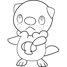 Oshawott Coloring Pages Color Mom Junction
