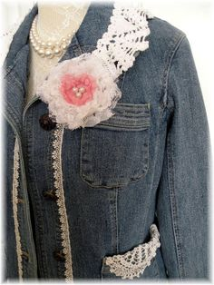 Prarire Gypsy Cowgirl boho demin upcycled by MarionberryCottage, $59.00